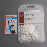 Hospital T4 Euthyrox 50ug x 100 tablets $24