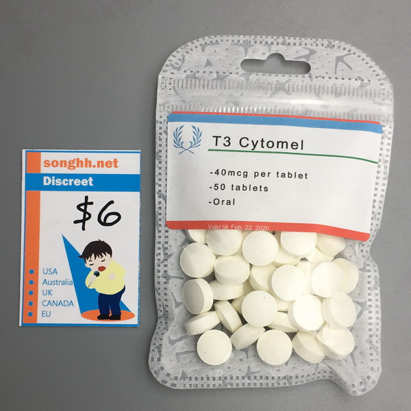Hospital T3 Cytomel 40mcg x 100 tablets $6 ZT - Click Image to Close